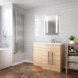 LED rétroéclairé miroir lumineux miroir de salle de bains avec capteur de lumière