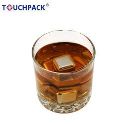En acier inoxydable 304 Bar partie Cub avec de la glace tong réutilisable de whisky de réfrigération des pierres chaudes de vendre des cubes de glace