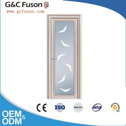 Portello di vetro di alluminio interno di Profille, porta a battenti, portello della stanza da bagno