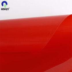 500 micras de plástico rojo transparente de PVC hojas rígidas Printable