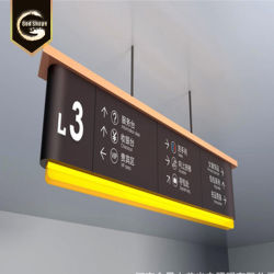 GS China Custom gran publicidad al aire libre Tienda Acrylic Caja de luz LED firmar la orientación de la estación de bus-0411