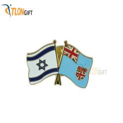 각종 다채로운 깃발 디자인 승진 선물의 연약한 사기질 접어젖힌 옷깃 Pin