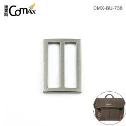 Commerce de gros réglable en alliage de zinc métal 38mm Tri Glide Boucle de ceinture, boucle en métal argenté professionnel personnalisé pour les sacs de sangle