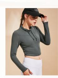 Fashion Blusa Slim Manga Longa Mulheres Sporteswear Top T-shirt