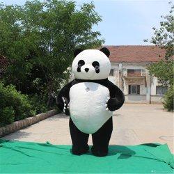Pas de Opblaasbare Mascotte van het Beeldverhaal van het Kostuum van de Panda Dierlijke aan