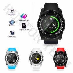 Horloge van de Telefoon van de Kaart van het Product SIM van de bevordering het Slimme V88 Wearable Apparaten