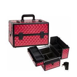 赤いABSダイヤモンドの美の箱(HB-2048)