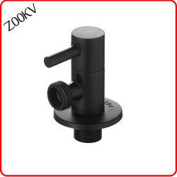 precio de fábrica de acero inoxidable chapado en negro Sanitarios wc cuarto de baño de la válvula de ángulo de agua del grifo de montaje
