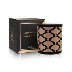 Très parfumée 100 % de la cire de soja naturel pot de verre noir Conteneur de bougie de bougies acheter en ligne cadeau parfum de longue durée