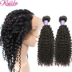 Inslag van het Haar van het Menselijke Haar van de Fabriek van Kbeth de Onverwerkte Maagdelijke Braziliaanse Kroezige Krullende