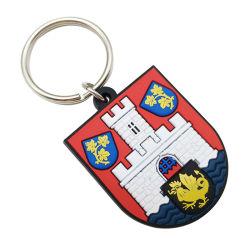 Usine de fantaisie personnalisé de gros porte-clés caoutchouc PVC mode sublimation de la chaîne de clés brutes de Finder clé pour l'entreprise cadeau publicitaire (KC-P52)
