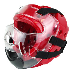 Sparring Head Gear jefe de guardia con protector facial para el Taekwondo