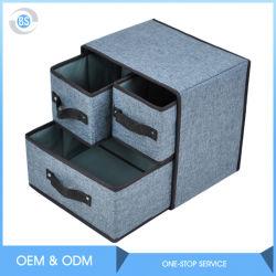 Armazenamento de fábrica tecido torácica 3 Gavetas Caixa de Armazenamento de dobragem para armazenamento, organizador