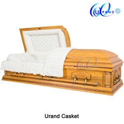 2019 Bois/Bois solides ou de funérailles/incinération de placage//peuplier/Oak/Cherry/acajou/cercueil tissé&Coffin