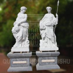 Сад орнамент мрамора гранита камень Hand-Made женской статуи скульптура