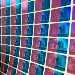 Zweifarbiger Druck Laser Hologramm Sicherheits-Aufkleber