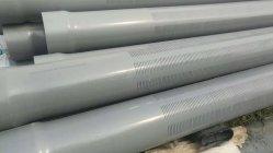 En plastique de qualité alimentaire PVC fendu avec les filetages du tuyau de couplage de l'écran