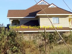 나이지리아/스틸의 컬러풀한 스톤 칩 코팅 메탈 지붕재 필리핀의 지붕재 타일 시트 / 컬러 지붕 가격