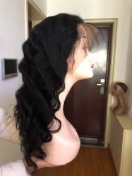 Естественный цвет волос - 100% прав Реми волос продукты 16 дюйма 150% плотность тела кружева 360 Wig кривой