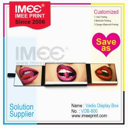 Imee 주문 크기 형식 영상 Cardbox LCD 스크린 전시 선전용 선물