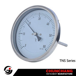 Termometro industriale bimetallico per tubi