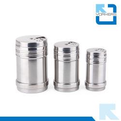 Bouteille de stockage en acier inoxydable Multi-Size Pot cure-dents détenteur de stockage