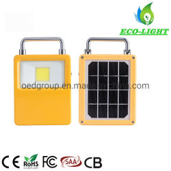Outdoor IP65 50W LED rechargeable portable Projecteur COB solaire