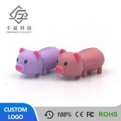 Matériau en caoutchouc PVC forme de cochon USB Pen Drive