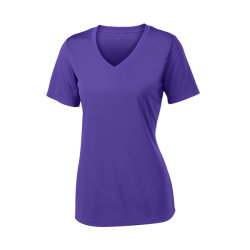 Atletische T-shirts van Wicking van de Vochtigheid van de Koker van vrouwen de Korte