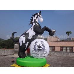 Statut Flying gonflable Tête de cheval Cheval gonflables publicitaires