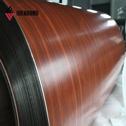 Ideabond PVDF/Polyester 목제 색깔 입히는 알루미늄 호일