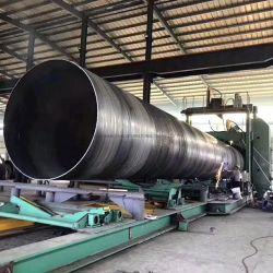 API 5L espiral helicoidal costura soldada tubería de acero SSAW soldar tubos de acero espiral espiral de diámetro grande Tubo de acero SSAW tubo soldado de la entrega de gas
