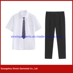 Gli sport su ordinazione dei pannelli esterni della giacca sportiva della maglia della camicia progettano uniforme scolastico primario dell'università convenzionale l'alto (U142)