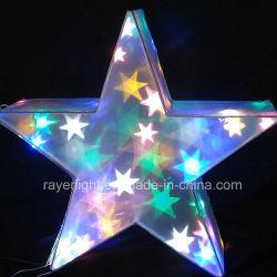 Vacances fête la fée lumières LED colorées de décoration Star Outdoor Décoration de Noël