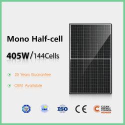 Goedkope prijs 144-cells Monocrystalline half Cell Solar Panel 405W met TUV, CE, ISO, CQC