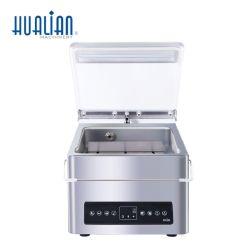 HVC-210T/1D Hualian Plastiktasche-bewegliche automatische Nahrungsmitteleinzelne Raum-Multifunktionsabdichtmassen-Dichtungs-Vakuumverpackungs-verpackenpaket-Maschine