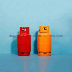 En el mercado de África 9kg grueso Alta Seguridad Inicio utiliza gas tanque de almacenamiento de cilindros de gas de cocina