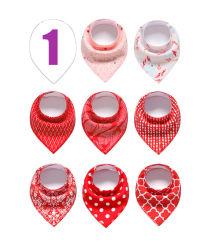 Nuevo diseño de algodón bordado la impresión de poliéster baberos bebé lindo bebé baberos de babeo Delantales