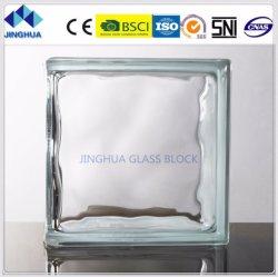 La mejor calidad Jinghua final claro 190x190x80mm de ladrillo y bloque de vidrio