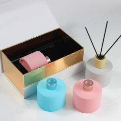 Élégante décoration maison 200ml Diffuseur Reed de bouteilles en verre avec des bâtons et de la boîte de Gift Set