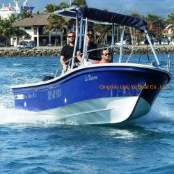 لييا 19 قدمًا بانجا السرعة رياضة صيد الأسماك زوارق بخارية محرك ألواح خارجية قارب زجاج طاجى صينى للبيع