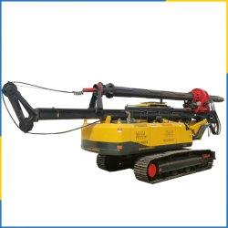ماكينة حفر الآبار المتنقلة الدوارة للحفر في الآبار 25 م، 30 م، 40 م، 50 م، 60 م، مركبة على زحاف من الفولاذ