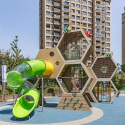 Plastikspielzeug Kinder Rutschen Vergnügungspark Kinder Outdoor Spielsets Wabe Anlage Spielgeräte