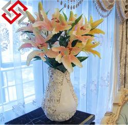 Verdadero toque de alta calidad Lirio flor artificial para la decoración del hogar