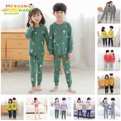 Centinaia di disegni dimensione 100-160 Vendita a caldo all'ingrosso manicotto lungo Sleepwear bambini Stampa in cotone Dinosauro Animali Boys Pajama Set