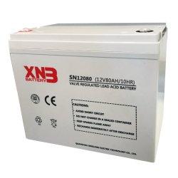 12V80ah سعر تنافسي AGM VRLA قابلة لإعادة الشحن تخزين UPS البطارية