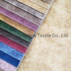 Moskou Soft Dubai Fabric 100% Polyester Holland Velvet verven met Bedrukte stoffering Sofa Furniture Home Textiel stof