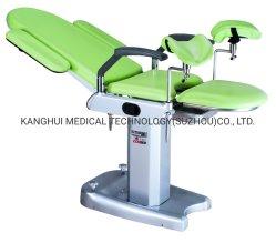 [هيغقوليتي] رخيصة ثابتة إرتفاع يدويّة [غس سبرينغ] طبّيّ معدن اللون الأخضر طبّ نسائيّ فحص يشغل كرسي تثبيت