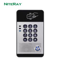 Prueba de agua de la puerta de SIP Teléfono con teclado táctil con diez teclas numéricas