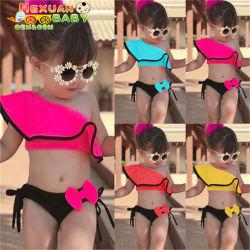 새로운 키즈 수영복, 아기 비키니, 어린이용 수영복 방수 어린이 트레이닝 수영복, 보우 디자인